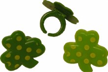 Shamrock Polka Dot Rings