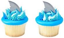 Shark Fin Cupcake Topper 12pc