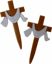 Brown Cross W/ White Cloth 12p
