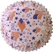 FOX RUN Baking Cups: Flags & Stars/60