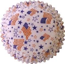 FOX RUN Baking Cups: Flags & Stars/60
