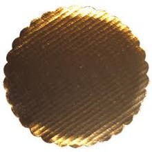 Gold Board 12' Scalloped 6/pkg