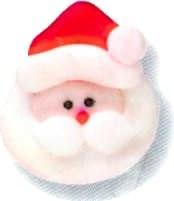 Icing Decorations: Med Santa F