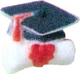 Sugar Decorations: 1' Cap & Di