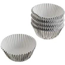 Silver Foil Baking Cups