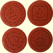 Round Happy Bithrday Embossing