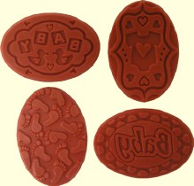 Oval Baby Designs Embossing St