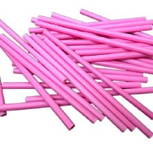 Lolly Sticks 41/2' Pink 50/pkg