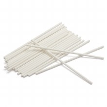 Lolly Sticks 41/2' White 50/pk