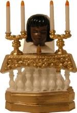 Ethnic Communion Girl At Altar