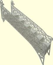 Filigree Heart Stairway/1 Per