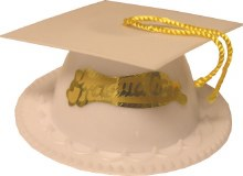 Graduation Cap Favor/topper Wh