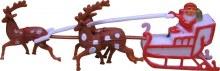 3d Santa And Reindeer