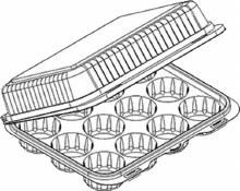 12cavmini Cupcake Container6/p