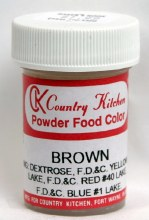 Powdered Food Color: Brown