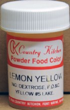 Powdered Food Color: Yellow
