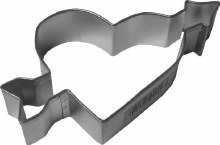 R & M International Metal Cutter: Heart W Arrow