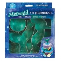 Mermaid  5pc Cookie Cutter Set