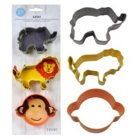 Safari 3pc Cookie Cutter Set