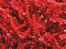 Crinkle Cut Grass: Red 2 Oz