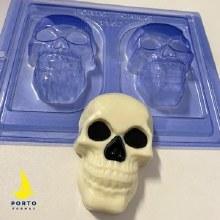 Skull 3 Part Mold