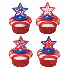 Usa Star Rings 12/pkg.