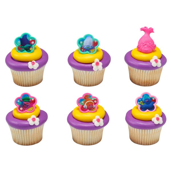 Trolls Cupcake Topper 6pk