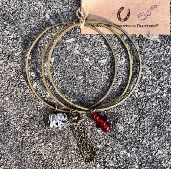 Triple Bracelet Metal Elephant