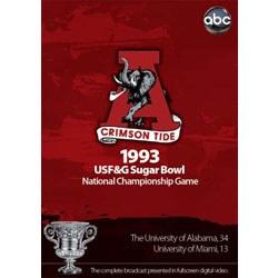 1993 Sugar Bowl DVD