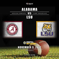 2012 Alabama vs LSU Blu-Ray (Regular Season)
