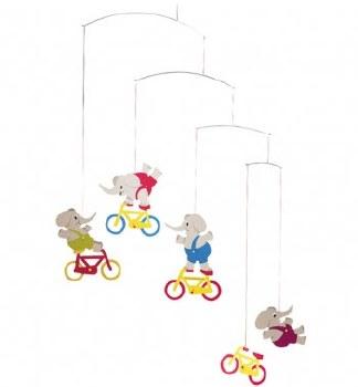 Cycle Elephant Mobile