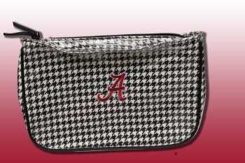 Houndstooth Makeup Bag