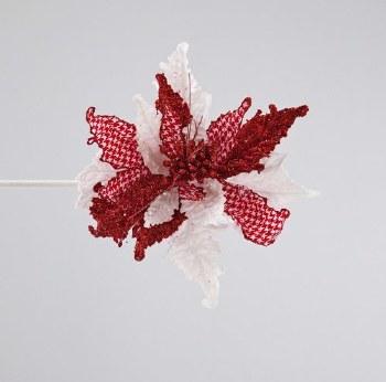 Houndstooth Poinsettia