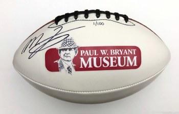 Mac Jones Autographed Football