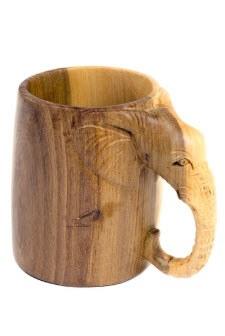 Mahogany Elephant Pencil Cup