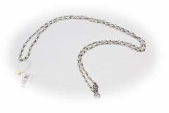 "36"" Pearl Link Silver Necklace"