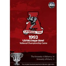 1993 Sugar Bowl DVD