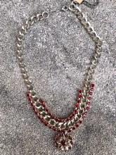 Statement Silver Crimson Stone