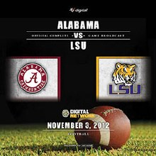 2012 Alabama vs LSU DVD (Regular Season)