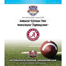 2012 BCS National Championship DVD/Blu-Ray