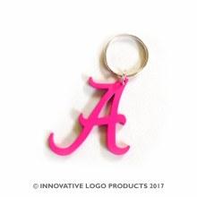"2"" Aluminum Keychain Pink"