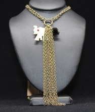 Tassel W/ivory Elphnt Necklace