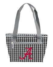Houndstooth 16 Can Cooler Tote