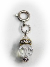 Crystal And Silver Charm