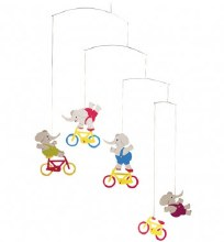 Cycle Elephant Mobile