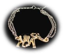 Dbl. Chain Silver Toned Neckla