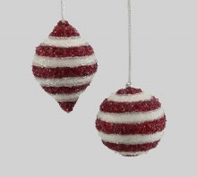 Encrusted Striped Ornament