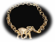 Gold Necklace W/gold Elepha