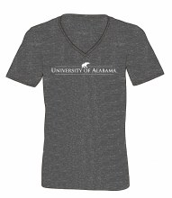 Heathered V Neck Am Dgrey