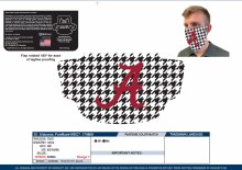 Houndstooth Fan Mask